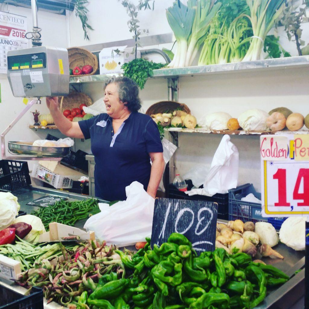 Marktverkäuferin Valencia